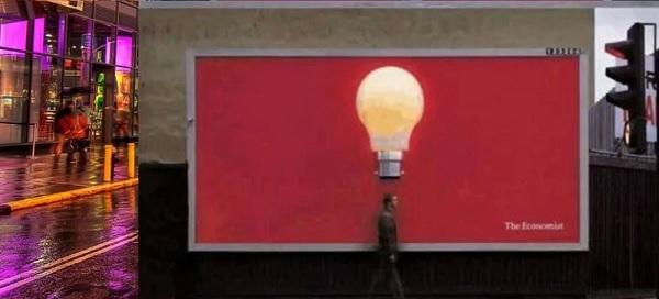 реклама объемными фигурами