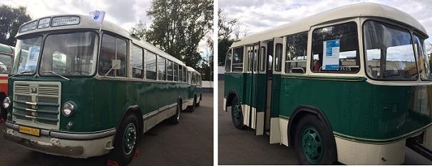 Автобус ЗИЛ-158 с прицепом