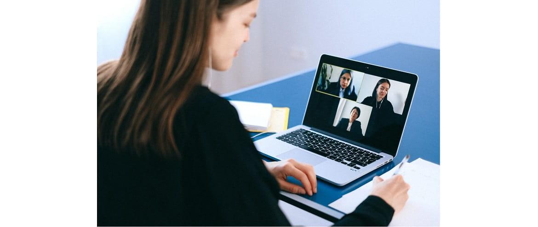 зрительный контакт во время видеоконференции